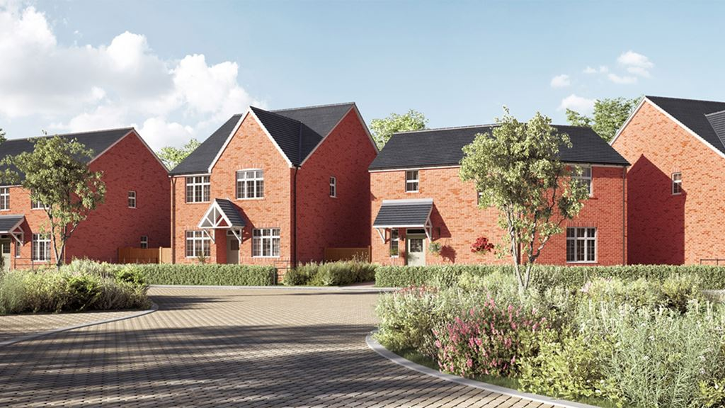 Broadmeadow Park exterior view of two bedroom The Gawsworth homes, Sandbach, Cheshire.